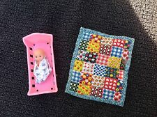 Barbie Happy Family Quilt Baby and Cradle 1974 Mattel