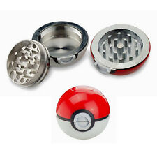 1X Sale 55mm Pokeball Grinder Pokemon Go Tobacco Grinder Xmas Halloween Gift Box