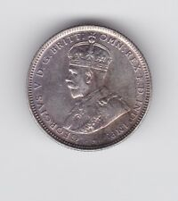 1918 Silver Shilling Coin Australia King George 8 Pearls & Diamond F-927