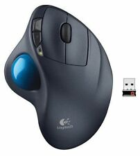 100% Original - Logitech M570 Cordless Trackman Trackball Wireless Gaming Mouse