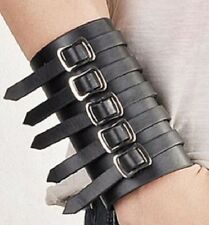 PUNK PU LEATHER BLACK WRISTBAND WRIST STRAP BAND CUFF GOTH STEAMPUNK PUNK GOTH