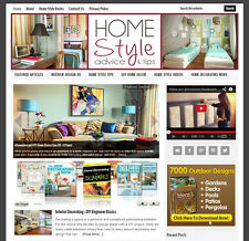 * HOME DECORATING * affiliate website for sale with DAILY AUTO-UPDATING CONTENT!