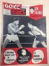 SPORT MATCH LA BOXE NEL MONDO RIVISTA N° 5 DEL 1961 GENE FULLMER
