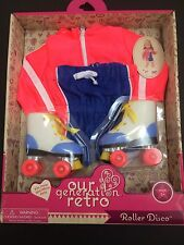 Our Generation 18 Inch Doll Retro Roller Disco Roller Skates Outfit  Clothes