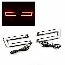 CUSTOM FIT! C-SHAPED! COB BRIGHT RED SMD LED DAYTIME RUNNING LIGHTS U-SHAPED