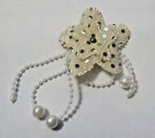 Beautiful Sequined & Beaded Cloth Flower Applique