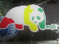 "ENJOI PANDA RASTA STICKER 4.5"" X 2.5"""