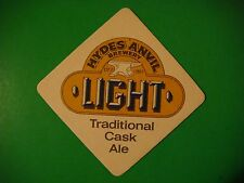 Beer Pub Coaster: Hydes Anvil Light Cask Ale - Award Winning Brewery Since 1863