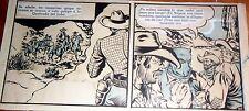 """EARLY ALBERTO BRECCIA ORIGINAL ART PAGE WESTERN COMIC """" RIO KID """" ARGENTINA 40'S"""