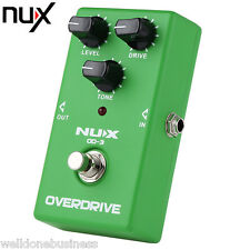 NUX OD-3 Vintage Overdrive Booster Guitar Effect Pedal True Bypass Design Green