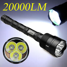20000Lumens T6 XM-L 3X CREE TrustFire LED Flashlight Torch Light For Camping USA