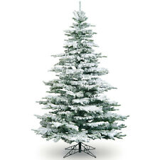 7ft Snowy Flocked Noble Pine Tree Artificial Christmas Tree Best Seller!
