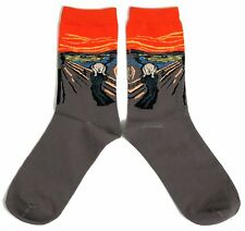 LADIES / MENS MUNCH THE SCREAM ART STUDENT ARTIST STUNNING SOCKS UK 6-8