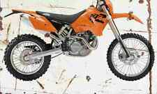 KTM 525MXC 2004 Aged Vintage SIGN A4 Retro
