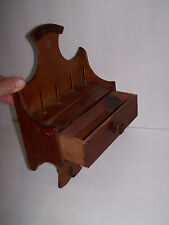 Vintage Wooden Spool Thread Holder Rack Wall Hanging, Handmade from wooden crate