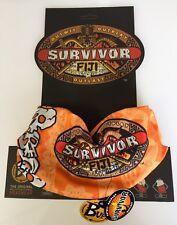 SURVIVOR BUFFS - Fiji Orange Ravu Tribe buff - New on Original Display