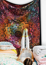Psychedelic Tie Dyed Multi Color indian Star Mandala Hippe bedding Room Boho bed