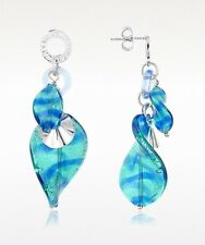 Antica Murrina Twister-- Murano Glass And Sterling Silver Drop Earrings