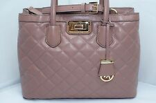 Michael Kors Hannah LG Satchel Bag Handbag Dusty Rose Large Shoulder Tote NWT