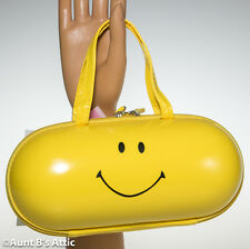 Purse Yellow Happy Pill Smiley Face Novelty Zippered Handbag