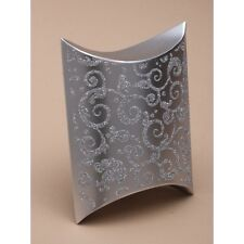 NEW 12 Silver glitter print pillow 7x8x3cm wedding favour gift box cake slice