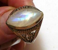 Amazing Rainbow MOoNSToNE! Sterling SILVER .925 RING sz 10