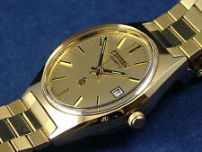 Vintage Citizen Gents Quartz Bracelet Watch NOS Circa 1980s New Old, Circa 1980s