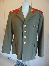 Vintage Military uniform jacket Russian with badges & red patch badge 40 chest