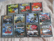11 PS1 RACING GAMES BUNDLE / PLAYSTATION 1 PS2 PS3 / V RALLY / COLIN MCRAE / 007