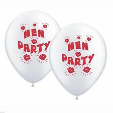Pack of 10 White & Red Hen Party Balloons