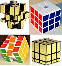 Fast & Smooth COMBO 3x3x3 Golden Mirror Magic Cube+Color Matching Rubik Cube Set