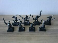 Warhammer elfes sylvains wood elf wardancers x 8 metal oop