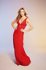 BNWT CAPRICE RED SILK  ZIP DETAIL MAXI DRESS SIZE 20 RRP £110