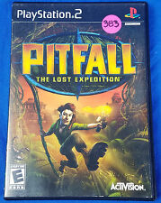 PITFALL THE LOST EXPEDITION PS2 Playstation II 2 100% COMPLETE Game TESTED Used