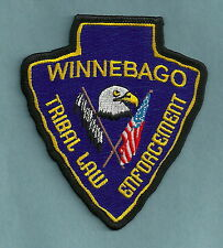WINNEBAGO NEBRASKA TRIBAL LAW ENFORCEMENT POLICE PATCH