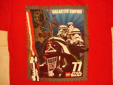 Star Wars Lego Star Wars Galactic Empire Card Darth Vader Red T Shirt M / L