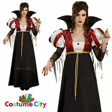 Adult Womens Royal Vampira Vampire Queen Halloween Fancy Dress Party Costume