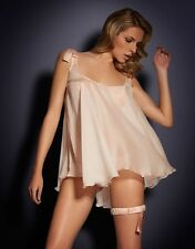 AGENT PROVOCATEUR 100% PEACH SILK BABYDOLL SIZE 3 MEDIUM UK 10-12 GIFT BOX  BNWT