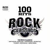 V/A: 100 HITS - ROCK CLASSICS 5CD Set  Original Artists Deep Purple, Tull, Saxon