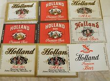 9 Different Vintage Holland Beer Labels Hammonton, New Jersey 3 IRTP's