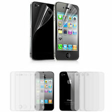 8 pcs (4 FRONT +4 BACK) Full Body Clear Screen Protector Film for iPhone 4 4S 4g