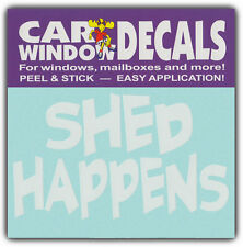 Car Window Decals: SHED HAPPENS | I Love Dogs | Stickers Cars Trucks Glass