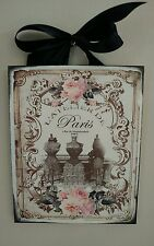 Paris vintage ad boutique- French Shabby Country Chic - Wall Decor Sign