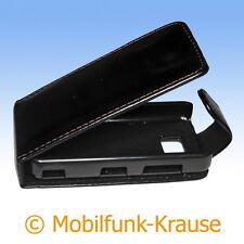Flip Case Etui Handytasche Tasche Hülle f. Nokia 5530 XpressMusic (Schwarz)