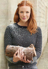 ~ Rowan Knitting Pattern For Lady's Polka Dot Sweater To Knit ~ Pics