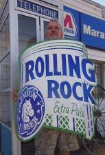 40X34 NEW ROLLING ROCK EXTRA PALE BEER DIE-CUT SIGN BAR TAVERN PUB RESTAURANT