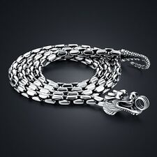 Genuine Solid Sterling Silver Thai Silver Dragon Chain Men's Necklace N521