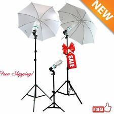 Studio Photography Lighting Kit 3 Point Lighting Umbrella Photo Bulb Lamp M