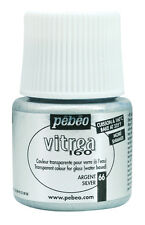 Pebeo Vitrea 160 Oven Bake Stain Glass Paint 45ml - Glossy, Shimmer & Frosted