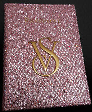 BNWOT Victoria's Secret  VS 2 fold Passport Holder GLITTER - LI PINK (2FGL028)